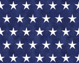 American Spirit - Stars Blue by Beth Albert from 3 Wishes Fabric