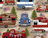 American Spirit - Camping by Beth Albert from 3 Wishes Fabric