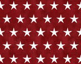 American Spirit - Stars Red by Beth Albert from 3 Wishes Fabric