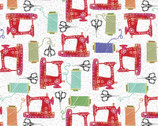 Create and Hobby - Sewing White by Kate Mason from 3 Wishes Fabric