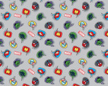 Kawaii Marvel - Character Speech Thought Bubble Gray from Springs Creative Fabric