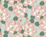 Magnolia Wonderland - Magnolia Flower Aqua Mint by Teresa Chan from Paintbrush Studio Fabrics