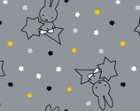 Miffy Twinkle - Shooting Stars Gray from The Craft Cotton Company