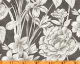 Marguerite - Large Floral Gray by Whistler Studios  from Windham Fabrics