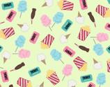 Vintage Boardwalk - Fun Snacks Fresh Green by Kim Christopherson from Maywood Studio Fabric