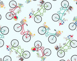 Vintage Boardwalk - Bicycles Blue by Kim Christopherson from Maywood Studio Fabric