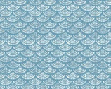Harmony - Geometric Scallop Blue Metallic from P & B Textiles Fabric