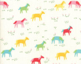Best Friends Forever - Ponies Rainbow White by Stacy Iest Hsu from Moda Fabrics