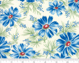 Sweet Harmony - Floral Blue Cream by American Jane from Moda Fabrics