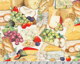 Uncork and Unwind - Cheese Fruit Platter Celebration by Mary Lake Thompson from Robert Kaufman Fabric