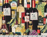 Uncork and Unwind - Wine Bottles by Mary Lake Thompson from Robert Kaufman Fabric