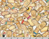Uncork and Unwind - Wine Cork by Mary Lake Thompson from Robert Kaufman Fabric