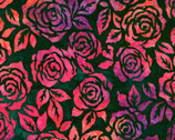 Artisan Batik Rosette - Rose Ruby by Lunn Studios from Robert Kaufman Fabric