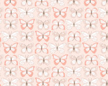 Wanderings - Butterfly Blush Pink by Jina Barney and Lori Woods from Poppie Cotton Fabric