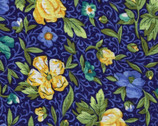 Floral Blue and Yellow from EE Schenck Fabric