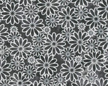 Monotone Daisy Floral from EE Schenck Fabric