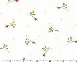 Wild Rose FLANNEL - Rosebuds Winter White by Marti Michell from Maywood Studio Fabric