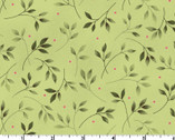 Wild Rose FLANNEL - Leaves Green by Marti Michell from Maywood Studio Fabric