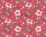 Wild Rose FLANNEL - Open Rose Pink by Marti Michell from Maywood Studio Fabric