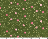 Wild Rose FLANNEL - Little Buds Green by Marti Michell from Maywood Studio Fabric