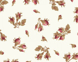 Burgundy and Blush - Rose Bud Cream Ecru from Maywood Studio Fabric