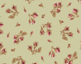 Burgundy and Blush - Rose Bud Green from Maywood Studio Fabric