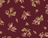 Burgundy and Blush - Rose Bud Burgundy Red from Maywood Studio Fabric