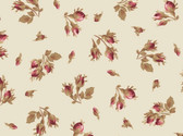 Burgundy and Blush - Rose Bud Tan from Maywood Studio Fabric