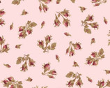Burgundy and Blush - Rose Bud Pink from Maywood Studio Fabric