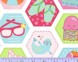 Chasing Waves Hexagon from Marcus Fabrics