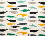 Tonoshi Poplin - Whales from Birch Fabrics