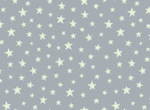 Christmas Glow - Stars Grey Glow In The Dark from Lewis and Irene Fabric