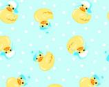 Comfy Flannel Prints - Ducks Blue Aqua from A.E. Nathan Company