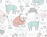 Comfy Flannel Prints - Animal in Pajamas from A.E. Nathan Company
