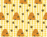 Comfy Flannel Prints - Honeycomb Bees from A.E. Nathan Company