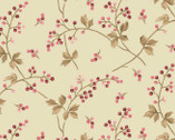 Burgundy and Blush - Berry Vine Soft Green from Maywood Studio Fabric