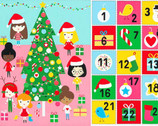 Girl Friends Holiday Party - Holiday PANEL 24 Inches by Ann Kelle from Robert Kaufman Fabric