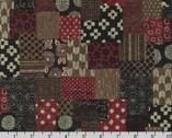 Sevenberry Nara Homespun - Patchwork Red by Sevenberry