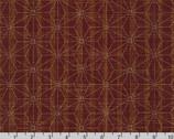 Sevenberry Nara Homespun - Geometric Star Red by Sevenberry from Robert Kaufman Fabric