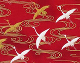 Imperial Collection 16 - Flying  Crane Red from Robert Kaufman Fabric