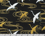 Imperial Collection 16 - Flying  Crane Onyx from Robert Kaufman Fabric