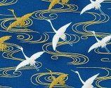Imperial Collection 16 - Flying  Crane Blue from Robert Kaufman Fabric