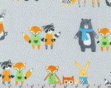 Neighborhood Pals - Grey by Farida Zaman from Robert Kaufman Fabric