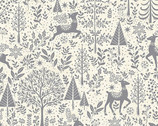 Scandi - Scenic Deer Grey from Makower UK  Fabric