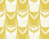 Perennial - Patchwork Tulips Lemon Meringue Yellow by Sarah Golden from Andover Fabrics