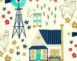 Homestead Life - Homestead Cream by Judy Jarvi from Windham Fabrics