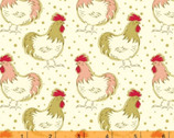 Homestead Life - Chicken Fancy Cream by Judy Jarvi from Windham Fabrics