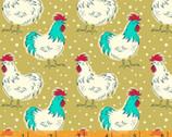 Homestead Life - Chicken Fancy Mustard by Judy Jarvi from Windham Fabrics