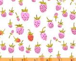 Heather Ross 20th Anniversary - Strawberry White from Windham Fabrics