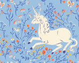 Heather Ross 20th Anniversary - Unicorn Meadow Blue from Windham Fabrics